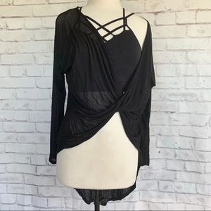 Sheer Twisted Front Layering Piece